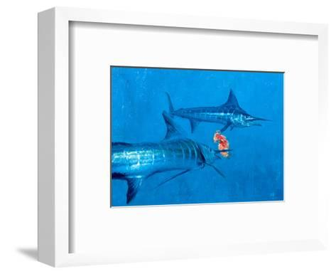 Two Striped Marlin and Iris Nudibranch-Stanley Meltzoff-Framed Art Print