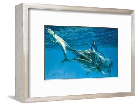 Black Marlin and Two Wahoo-Stanley Meltzoff-Framed Art Print