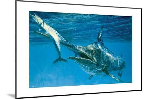 Black Marlin and Two Wahoo-Stanley Meltzoff-Mounted Giclee Print