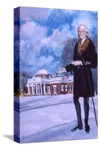 Thomas Jefferson, the Man from Monticello-Stanley Meltzoff-Stretched Canvas Print