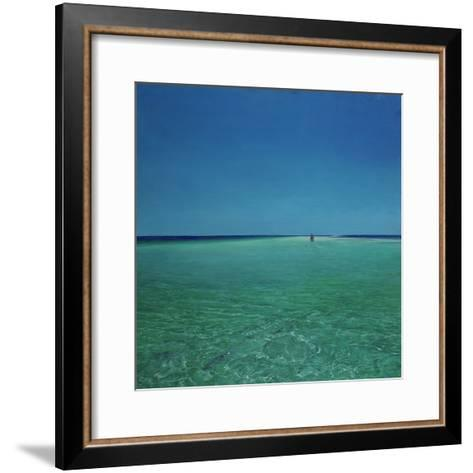 The Bonefisherman: a Distant Flats Fisherman Casts His Fly for Bonefish-Stanley Meltzoff-Framed Art Print