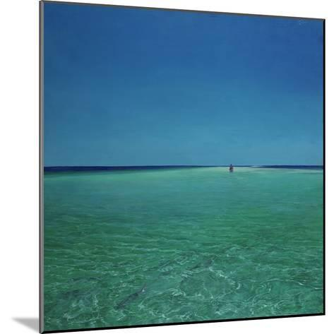 The Bonefisherman: a Distant Flats Fisherman Casts His Fly for Bonefish-Stanley Meltzoff-Mounted Photographic Print