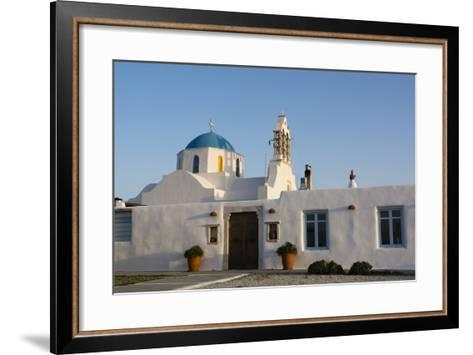 A Scenic View of a Private Church in Naousa-Sergio Pitamitz-Framed Art Print