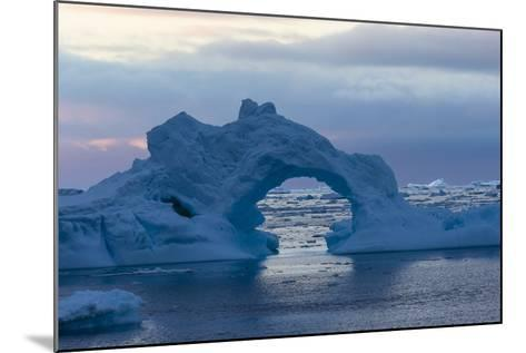 A Sunset over Grandidier Channel, Antarctica-Ralph Lee Hopkins-Mounted Photographic Print