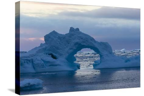 A Sunset over Grandidier Channel, Antarctica-Ralph Lee Hopkins-Stretched Canvas Print