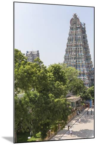 The South Tower of the Meenakshi Amman Temple Rises High Above the Street-Kelley Miller-Mounted Photographic Print