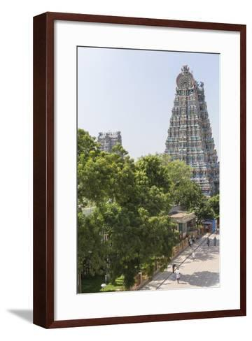 The South Tower of the Meenakshi Amman Temple Rises High Above the Street-Kelley Miller-Framed Art Print