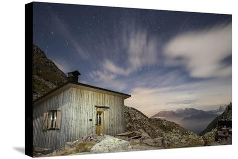 The Paolo E Nicola Hut and Forecella Valmaggiore Bathed in Starlight-Ulla Lohmann-Stretched Canvas Print