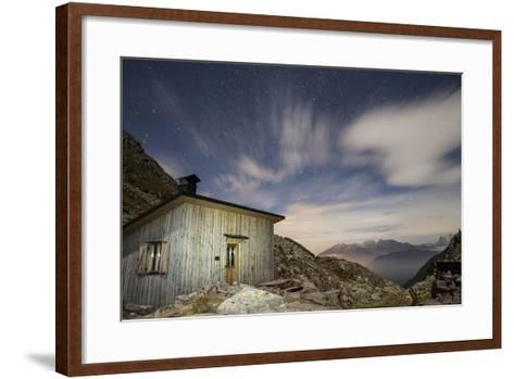 The Paolo E Nicola Hut and Forecella Valmaggiore Bathed in Starlight-Ulla Lohmann-Framed Art Print