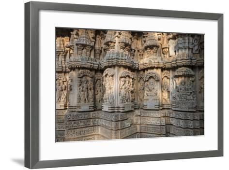 Keshava Temple Houses Friezes of Animals and Humans, and Sculptures of Hindu Gods-Kelley Miller-Framed Art Print