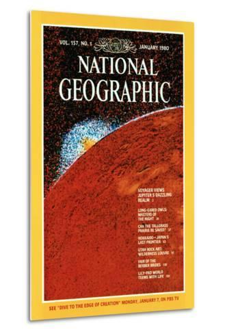 Cover of the January, 1980 National Geographic Magazine--Metal Print