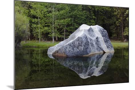 A Large Granite Boulder in Tenaya Creek, in Yosemite National Park-Marc Moritsch-Mounted Photographic Print