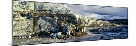 A River Flowing Along the Fracture Zone of an Enormous Glacier-Jason Edwards-Mounted Photographic Print