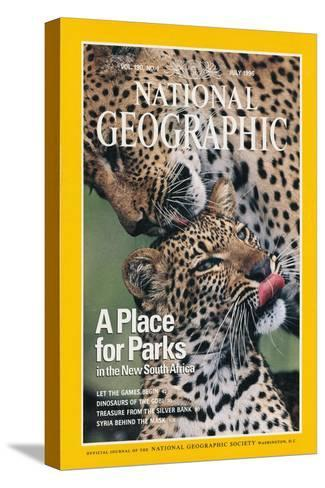 Cover of the July, 1976 National Geographic Magazine-Chris Johns-Stretched Canvas Print