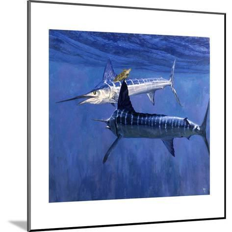 Two Striped Marlin and Turtle-Stanley Meltzoff-Mounted Giclee Print