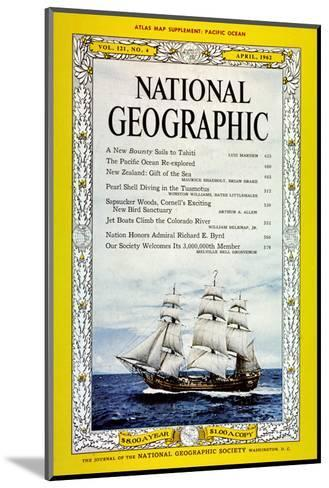 Cover of the April, 1962 National Geographic Magazine-Luis Marden-Mounted Photographic Print