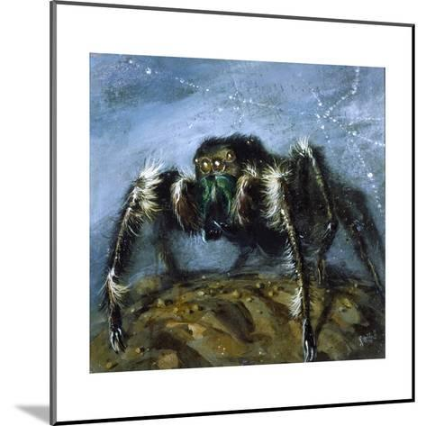 Wolf Spider: a Gigantic Hairy Spider with Beady Eyes Emerges from its Lair to Wreak Havoc-Stanley Meltzoff-Mounted Giclee Print