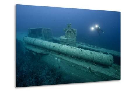 Exploring a World War Ii Shipwreck in the Ionian Sea-Andy Mann-Metal Print