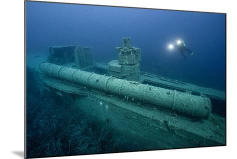 Exploring a World War Ii Shipwreck in the Ionian Sea-Andy Mann-Mounted Photographic Print