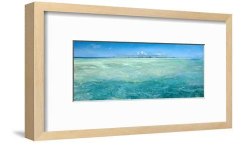 Bones Up with the Tide: a Panoramic Island View of Bonefish Searching for Food in Shallow Water-Stanley Meltzoff-Framed Art Print