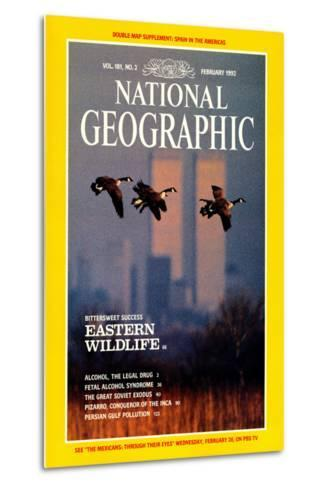Cover of the February, 1992 National Geographic Magazine-Raymond Gehman-Metal Print