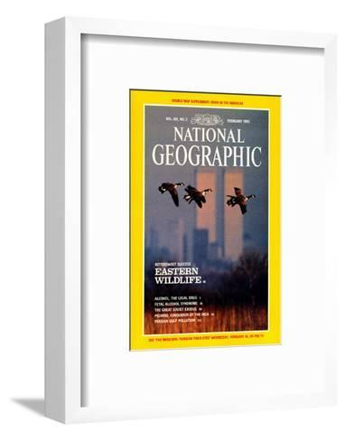 Cover of the February, 1992 National Geographic Magazine-Raymond Gehman-Framed Art Print