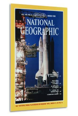 Cover of the March, 1981 National Geographic Magazine-Jon T^ Schneeberger-Metal Print