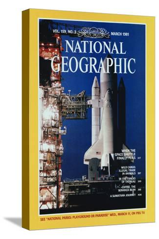 Cover of the March, 1981 National Geographic Magazine-Jon T^ Schneeberger-Stretched Canvas Print