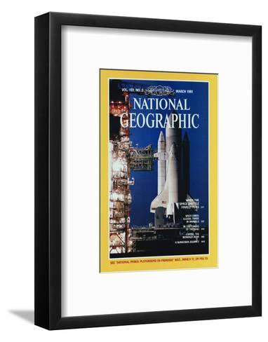 Cover of the March, 1981 National Geographic Magazine-Jon T^ Schneeberger-Framed Art Print
