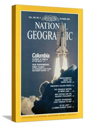 Cover of the October, 1981 National Geographic Magazine-Jon T^ Schneeberger-Stretched Canvas Print