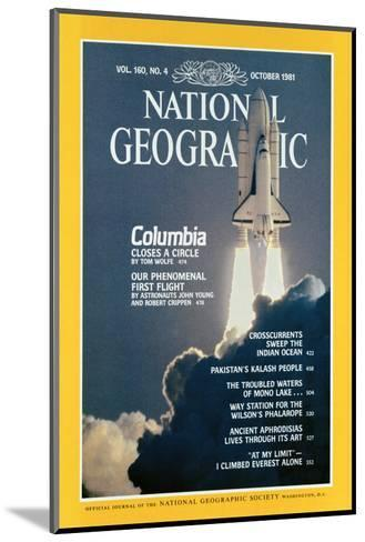 Cover of the October, 1981 National Geographic Magazine-Jon T^ Schneeberger-Mounted Photographic Print