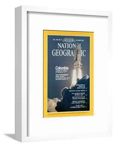 Cover of the October, 1981 National Geographic Magazine-Jon T^ Schneeberger-Framed Art Print