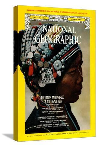 Cover of the March, 1971 National Geographic Magazine-W^E^ Garrett-Stretched Canvas Print