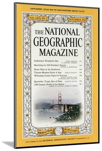 Cover of the December, 1959 National Geographic Magazine-B^ Anthony Stewart-Mounted Photographic Print