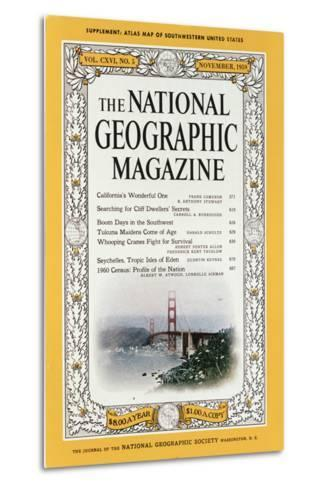 Cover of the December, 1959 National Geographic Magazine-B^ Anthony Stewart-Metal Print