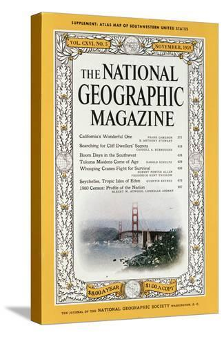 Cover of the December, 1959 National Geographic Magazine-B^ Anthony Stewart-Stretched Canvas Print