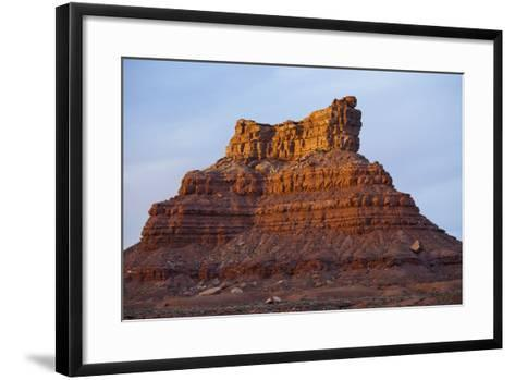 One of Several Large Monuments in the Valley of the Gods in Southeastern Utah-Scott S^ Warren-Framed Art Print