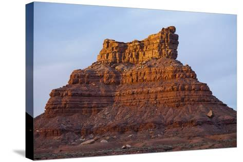 One of Several Large Monuments in the Valley of the Gods in Southeastern Utah-Scott S^ Warren-Stretched Canvas Print