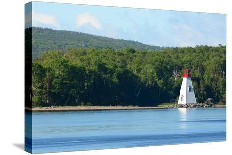 Scenic View of the Kidston Island Lighthouse-Darlyne A^ Murawski-Stretched Canvas Print