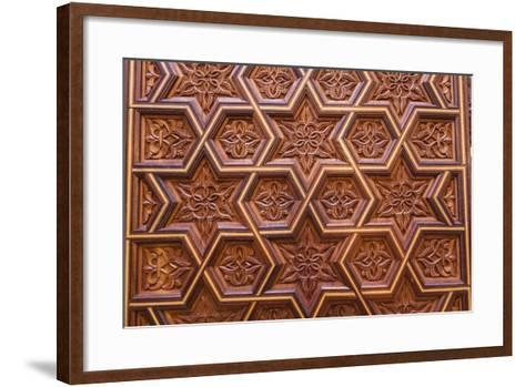 Carved Star of David in the Door of the Holy Ark in the Neve Shalom Synagogue in Casablanca-Richard Nowitz-Framed Art Print