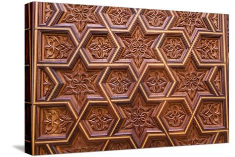 Carved Star of David in the Door of the Holy Ark in the Neve Shalom Synagogue in Casablanca-Richard Nowitz-Stretched Canvas Print