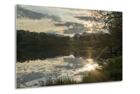 Sunset at Loughrigg Tarn Near Ambleside in the Lake District-Alex Treadway-Metal Print