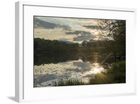 Sunset at Loughrigg Tarn Near Ambleside in the Lake District-Alex Treadway-Framed Art Print