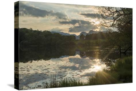 Sunset at Loughrigg Tarn Near Ambleside in the Lake District-Alex Treadway-Stretched Canvas Print