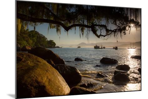 Praia Picinguaba in Ubatuba, Sao Paulo State, Brazil, at Sunset-Alex Saberi-Mounted Photographic Print