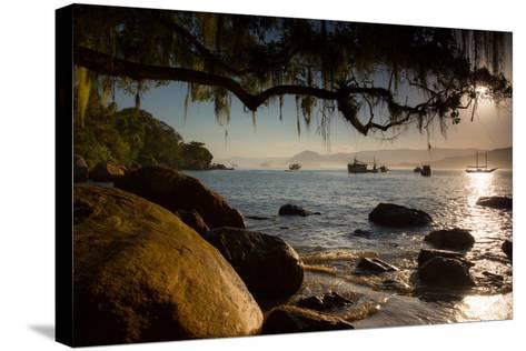 Praia Picinguaba in Ubatuba, Sao Paulo State, Brazil, at Sunset-Alex Saberi-Stretched Canvas Print