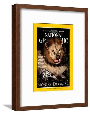 Cover of the August, 1994 National Geographic Magazine-Beverly Joubert-Framed Art Print