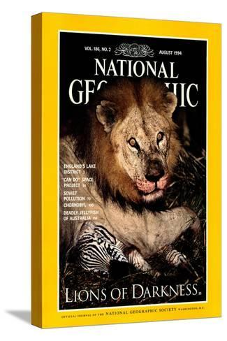 Cover of the August, 1994 National Geographic Magazine-Beverly Joubert-Stretched Canvas Print