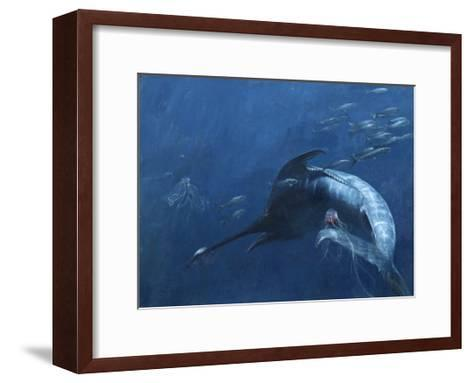 Blue Marlin, Bunker, and Jellies, 2003-Stanley Meltzoff-Framed Art Print