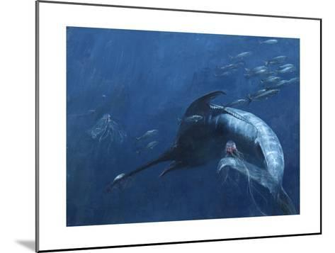 Blue Marlin, Bunker, and Jellies, 2003-Stanley Meltzoff-Mounted Giclee Print